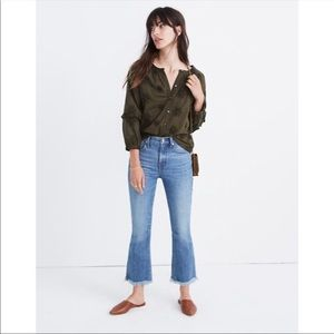 Madewell Embroidered Bubble Sleeve Top